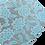 Thumbnail: Fine Glitter Blue Floral Faux Leather Sheets