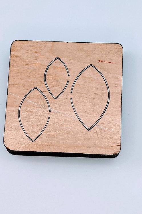 Triple Layer Leaf Earring Wood Die Cut