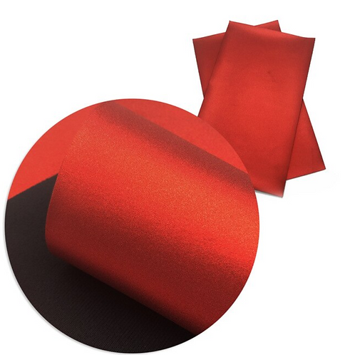 Metallic Red Faux Leather Sheets