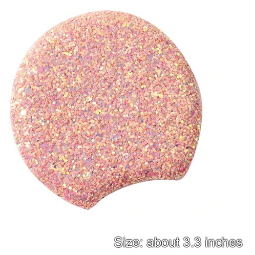 Pink Chunky Glitter Padded Mouse Ears