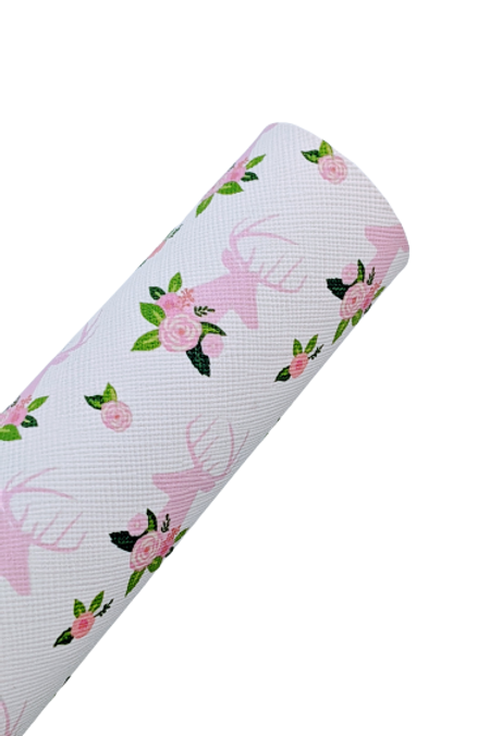 Pink Dear and Roses Faux Leather Sheets