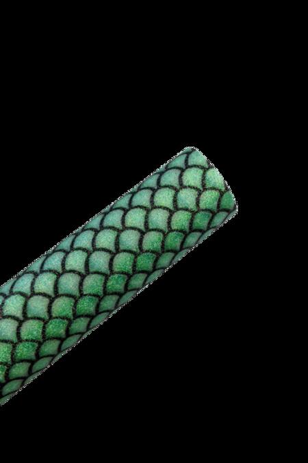 Green Scales Fine Glitter Faux Leather