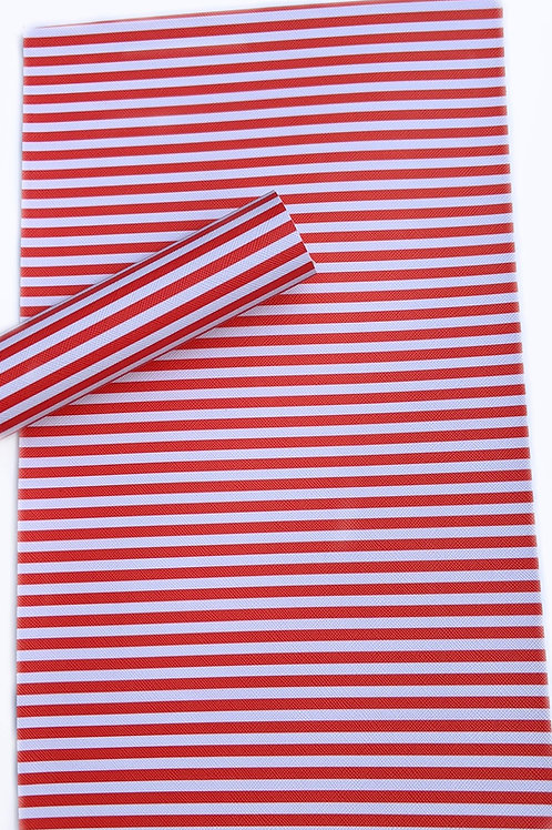 Red and White Faux Leather Sheets