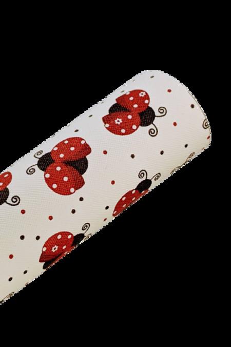 Ladybug Faux Leather Fabric Sheets