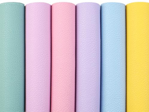 Pastel Faux Leather Sheets