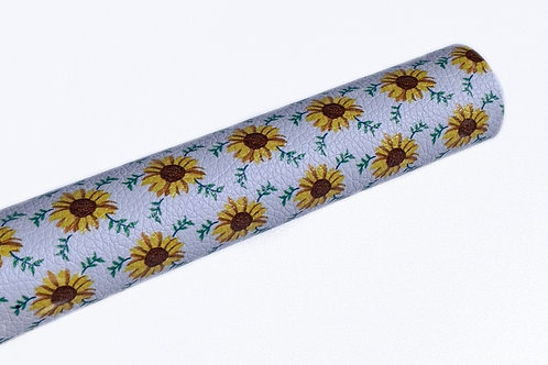 Sunflowers Singles Faux Leather Sheets