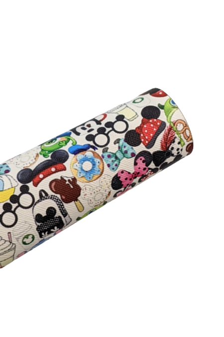 Mouse Head Snacks and Accessories Faux Leather Fabric Sheets