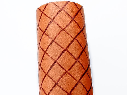 Waffle Cone Print Faux Leather Sheets