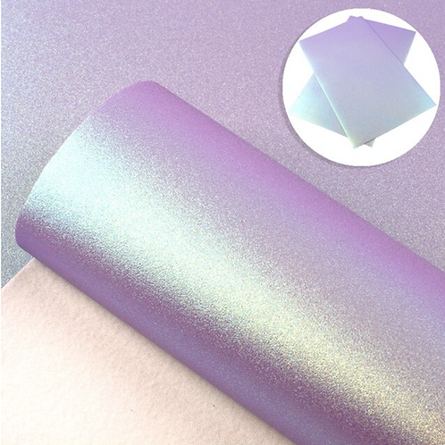 Iridescent Purple Smooth Glitter Faux Leather Sheets
