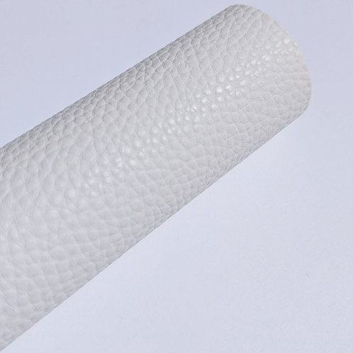 Pebbled White Faux Leather Sheets