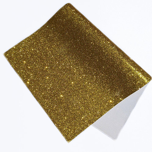 Gold Fine Glitter Faux Leather Sheets