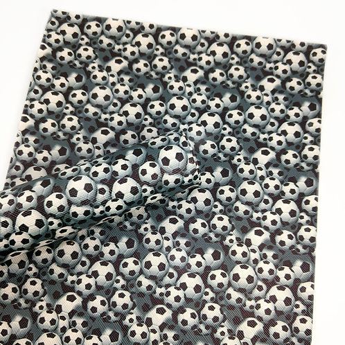 Soccer balls Faux Leather Sheets