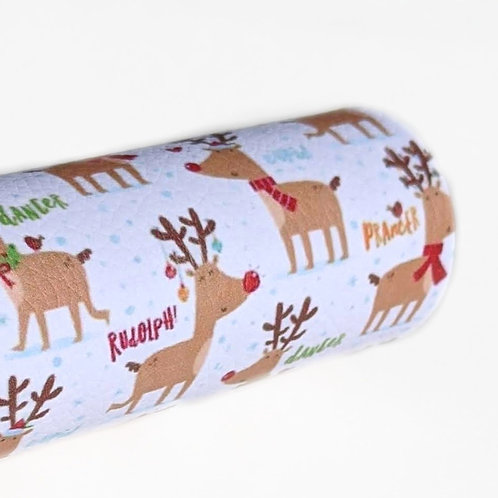 Reindeer Names Faux Leather Sheets