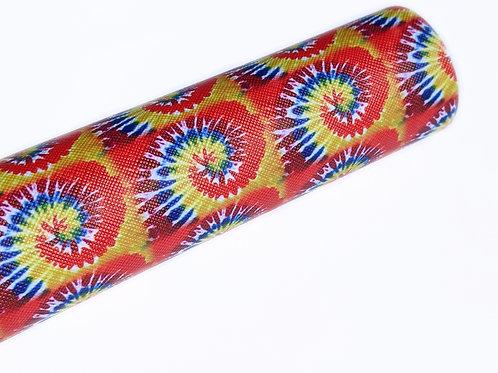 Tie Dye Print Faux Leather Sheets