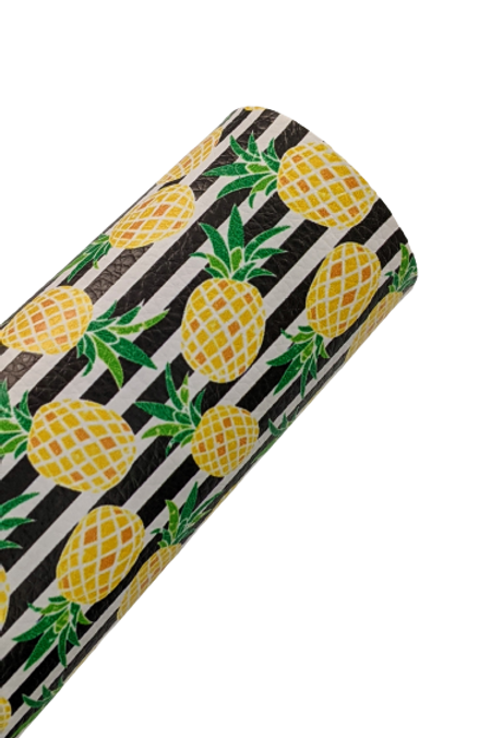 Pineapple and Stripes Faux Leather Sheets