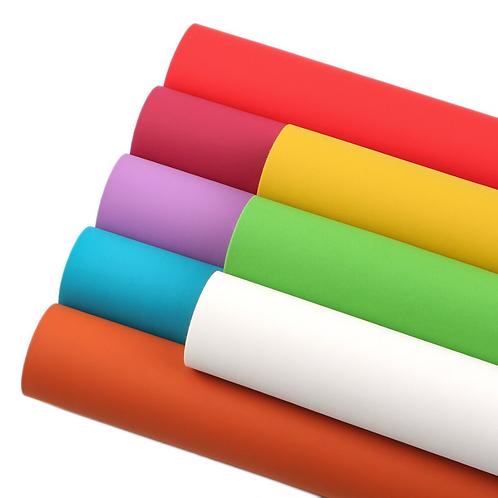 Solid Matte Color Faux Leather Sheet Set