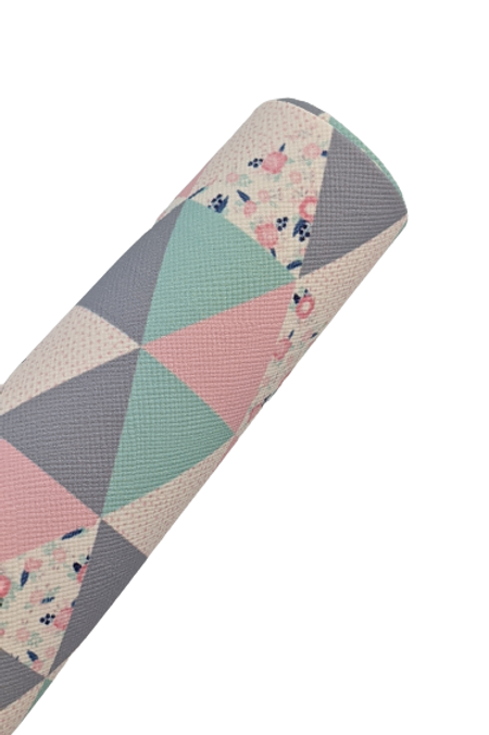Floral Triangles- Multi Colored/Patterned Faux Leather Sheets