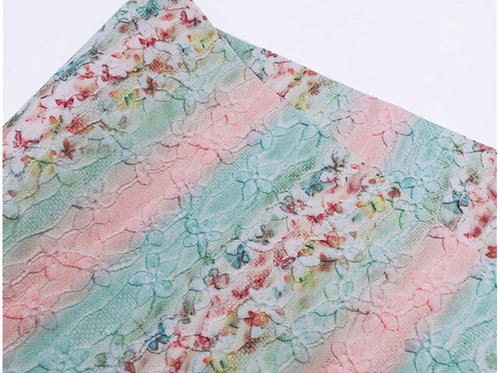 Butterflies and Lace Overlay Faux Leather Fabric Sheets