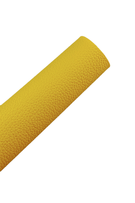 Yellow Pebbled Faux Leather Sheets