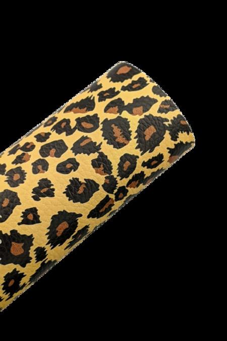 Leopard Print Faux Leather Sheets