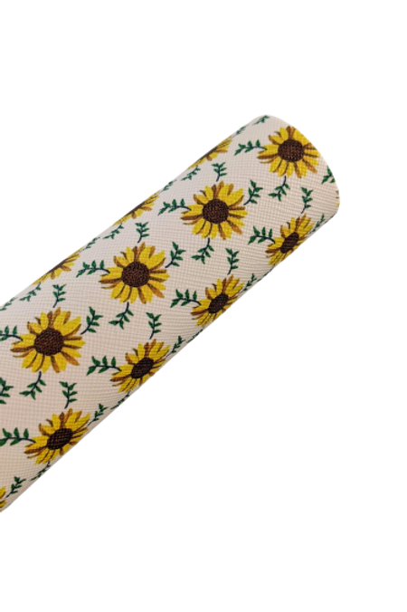 Sunflowers #1 Faux Leather Sheets