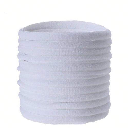 White Nylon Headbands