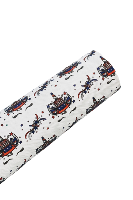 4th Of July Unicorn Faux Leather Sheets