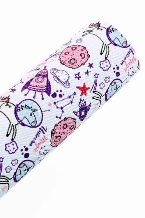 Astronaut Unicorn Faux Leather Sheets