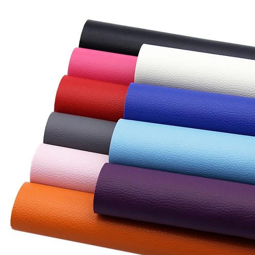 Solid Color Faux Leather Sheet Set