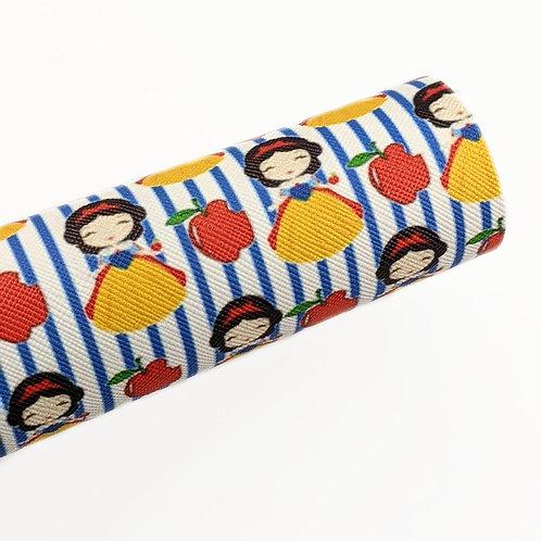 Snow White Print Faux Leather Sheet