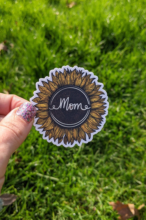Mom Sunflower Sticker