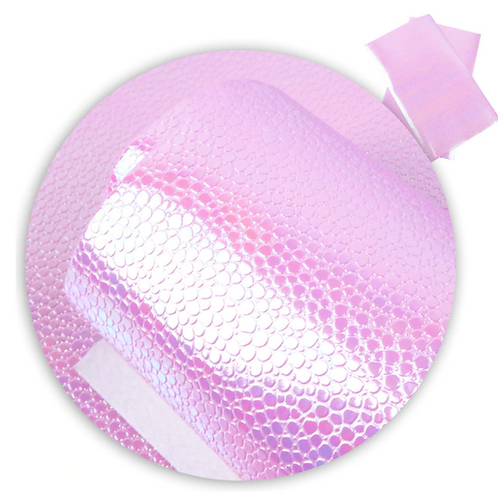 Pink Mirror Pebbled Faux Leather Fabric Sheets