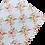 Thumbnail: Floral Diamond Pattern Leather Fabric Sheet