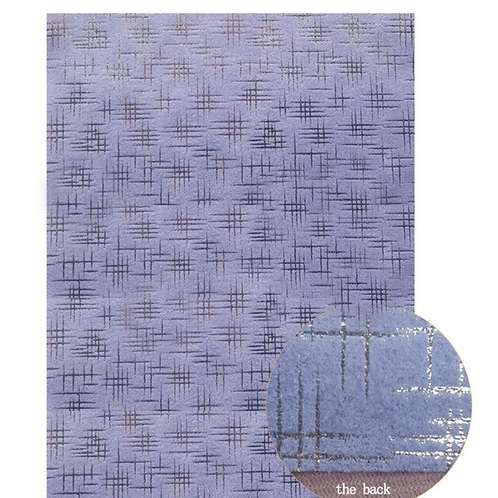 Purple and Metallic Silver Velvet and Fabric Sheet