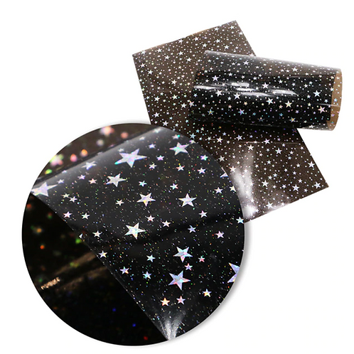 Black Translucent with Stars Jelly Sheets