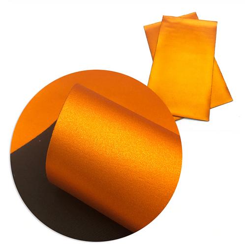 Metallic Orange Faux Leather Sheets