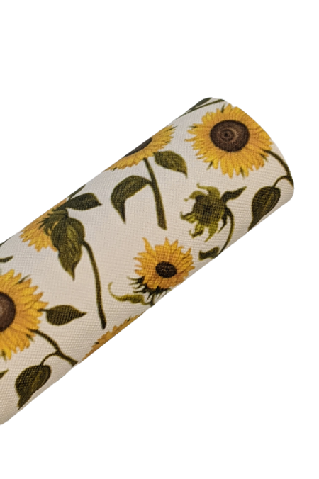 Sunflowers with Long Stems Faux Leather Sheets