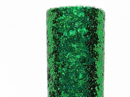 Green Chunky Glitter Faux Leather Sheets