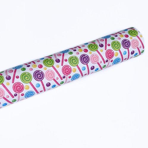 Lollipop Print Faux Leather Sheets