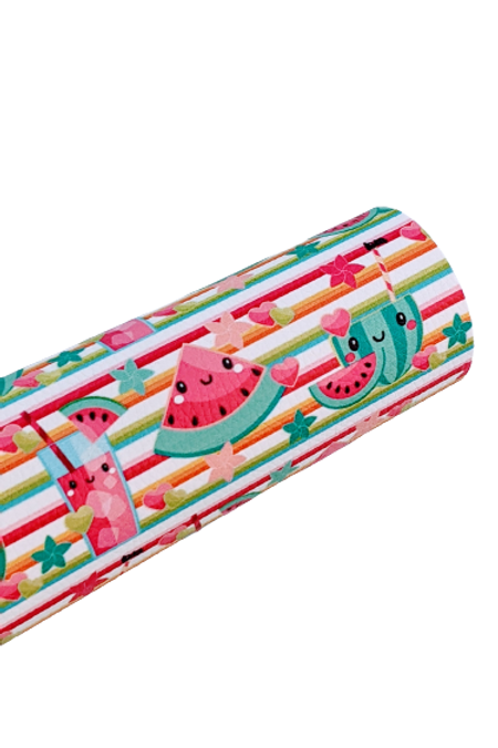 Summer Watermelon Treats Faux Leather Sheets