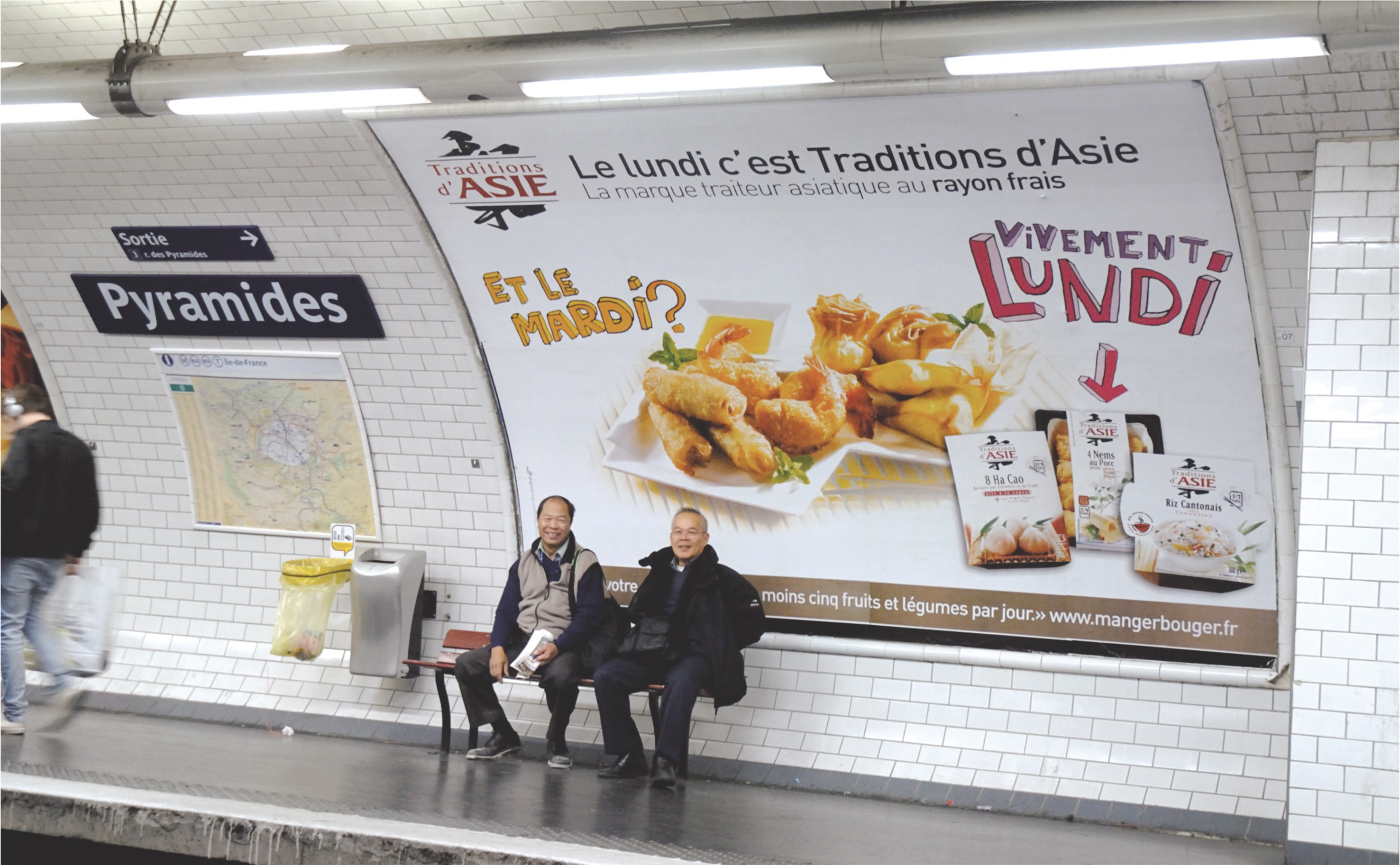 tradition asie photo en situation metro