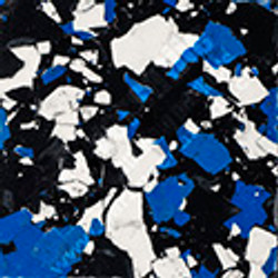 """1"""" inch flake Touch of Blue"""