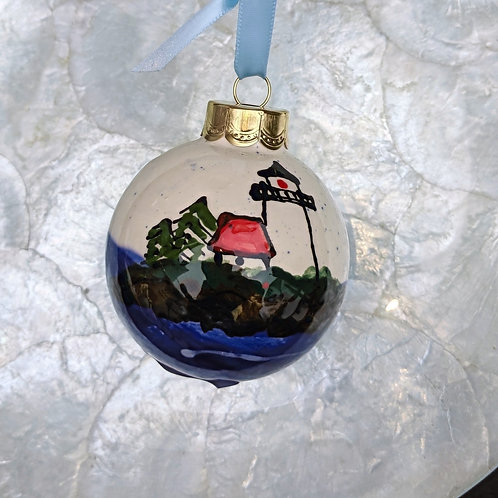 Curtis Island Lighthouse Ornament