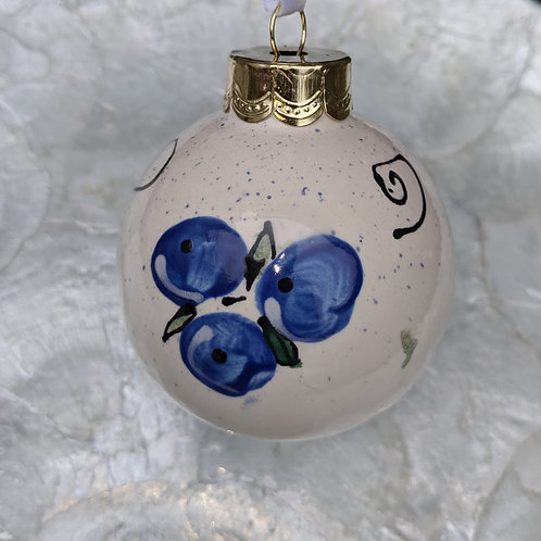 Blueberry Ornament Made in Maine