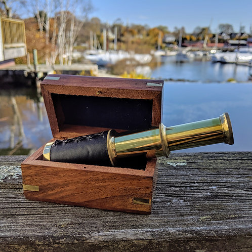 Nautical Scope w/Wooden Box