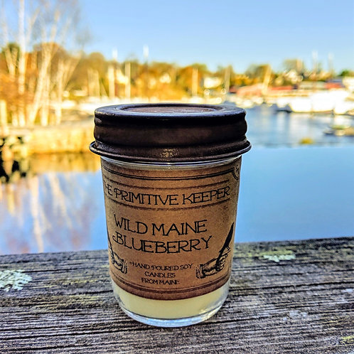 Wild Blueberry Maine Soy Candle