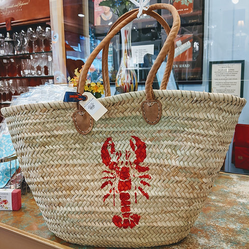 Maine Lobster Tote Leather Handles