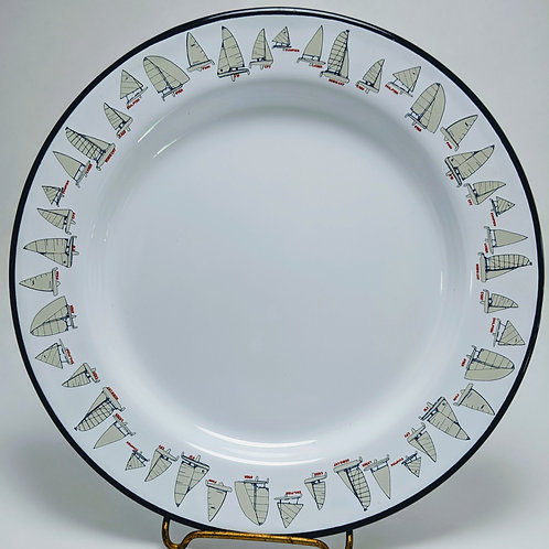 Sailing Boat Enamelware Salad Plate Limited Edition