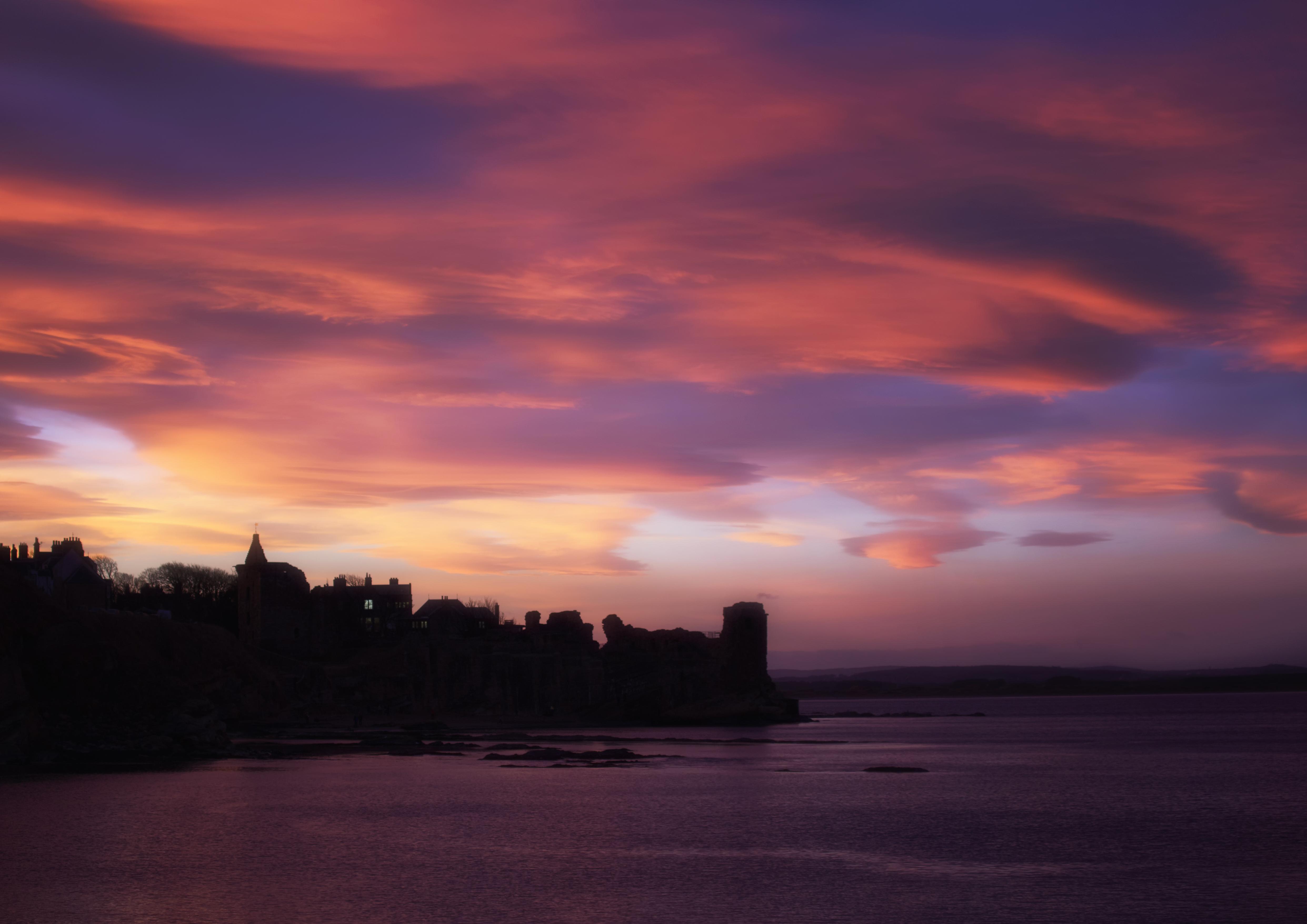 Castle sunset, Autumn