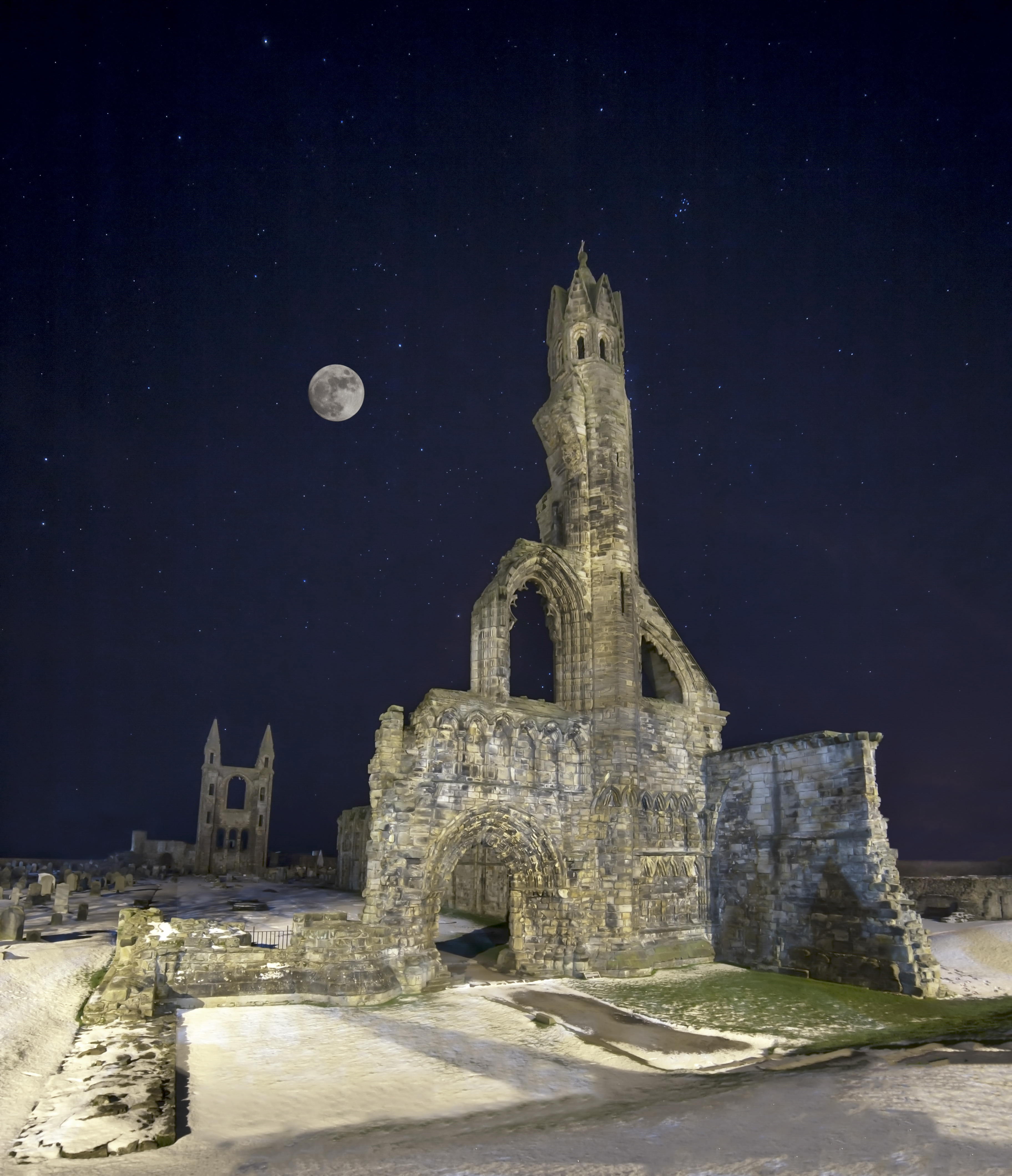 Snow and Stars, St Andrews Cathedral